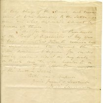 Image of Reverse of letter, with signature of William T. Sherman.