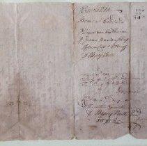 Image of Reverse, Writ to Ebenezer to pay John Stevens, 1730-1731