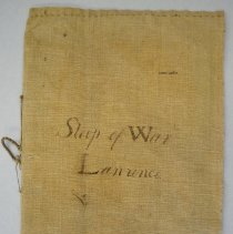 "Image of Cover of log book, entitled ""Sloop of War/Lawrence""."