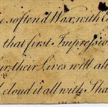 Image of Handwritten poem found with William Engs's papers.
