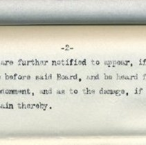 Image of Detail of second page of notice.