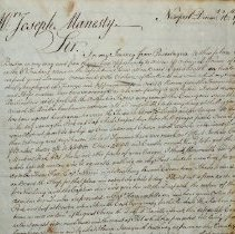 Image of Copy of letter to Joseph Manesty, page 3.
