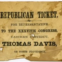 Image of Republican Party ticket for Thomas Davis.