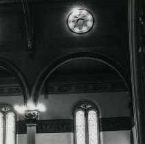 Image of Interior architectural details at Newport's United Congregational Church.