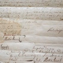 Image of Detail of document, including signature of Martin Howard.