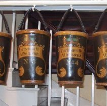 Image of C07.511.1-7 - 7 Portsmouth Athenaeum Fire Buckets