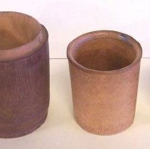 Image of C07.548a-d - Set of bamboo cups in case