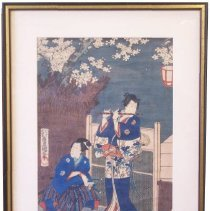 Image of C06.522 - Prince Genji Playing the Flute