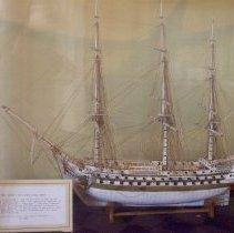 Image of C07.519 - Bone ship model,