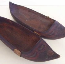 Image of C07.563a-b - Pair of wooden shoes