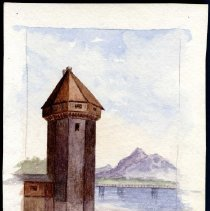 Image of C09.003.5 - Watercolor of Tower