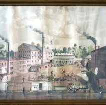 Image of C10.501 - Chromolithograph of Frank Jones Brewery, Islington Street