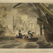 Image of C11.510 - Engraving, Perry's Victory on Lake Erie