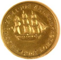 Image of C12.540.a-b - Dies for Portsmouth Marine Society Seal
