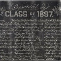 Image of C12.541 - Plaque of Portsmouth High School Class of 1897