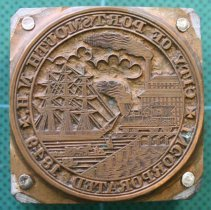 Image of C12.551 - Printing Block with the Seal of the City of Portsmouth