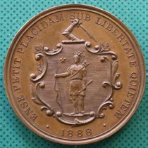 Image of C12.552 - Commemorative Token of the 250th Anniversary of the Artillery Company of Mass.