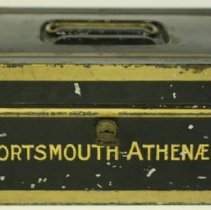 "Image of C13.509 - Small Tin Box Marked ""Portsmouth Athenaeum"""