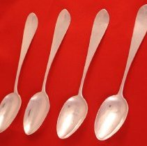 Image of C14.023.1-4 - Four Silver Teaspoons