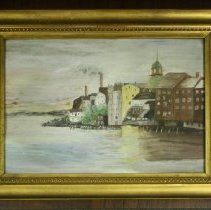 Image of C14.035 - Watercolor View of Bow Street from the Water