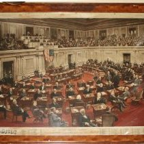 Image of C14.505 - Engraving of the United States Senate, 1898