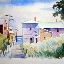 Image of C10.002.6 - Watercolor of Portsmouth, NH