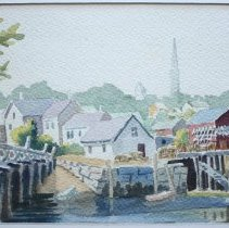 Image of C10.002.7 - Watercolor of South End, Portsmouth, NH