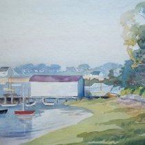 Image of C10.002.8 - Watercolor of Portsmouth, NH, area