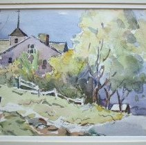 Image of C10.002.9 - Watercolor of Portsmouth NH area
