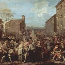 """Image of C14.503 - William Hogarth Engraving: """"The March of the Guards to Finchley"""""""