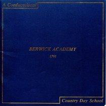 Image of Folder: Berwick Academy, Me. - Ephemera