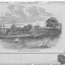 Image of V-075 - Newspaper Illustration of Noble's Island