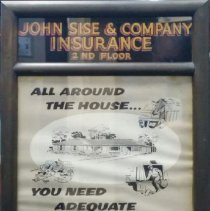 Image of C16.007 - Sise & Co. Insurance Sign