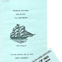 Image of Folder: Portsmouth High School Reunion - Ephemera