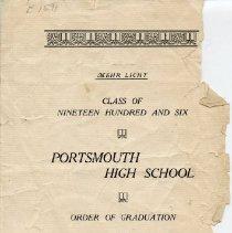 Image of Folder: Portsmouth High School - Ephemera