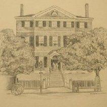 Image of V-268 - Drawing of Rockingham House