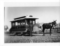 Image of Wiley Griffin with Streetcar and Mule