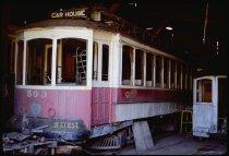 Image of DH7274 - End of Gearhart to Dallas Coast Trip; Streetcar park (Oregon Electric Railway Historical Society, Glenwood, Oregon; Bonneville Ship Locks