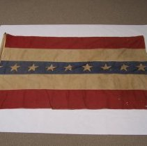 Image of Civil War artifacts - Tennessee flag