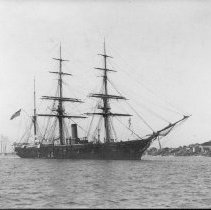 Image of PHOTOGRAPH,  MERCHANT SAIL/STEAM SHIP (BARQUE) IN MARBLEHEAD HARBOR