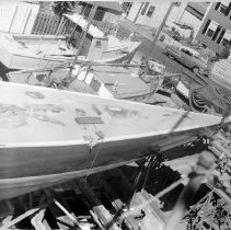"Image of PHOTOGRAPH, SAILING YACHT ""EASTERNER"" UNDER CONSTRUCTION IN GRAVES YARD, FR"
