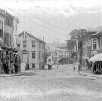 Image of PHOTOGRAPH, INTERSECTION OF PLEASANT AND WASHINGTON STREETS LOOKING TOWARD
