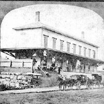 Image of PHOTOGRAPH, THIRD RAILROAD STATION ON PLEASANT STREET