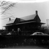 Image of PHOTOGRAPH, FOURTH RAILROAD STATION (AFTER 1888 FIRE UNTIL 1950S)