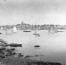 Image of PHOTOGRAPH, HARBOR FROM EASTERN YACHT CLUB