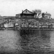 Image of PHOTOGRAPH, CLIFF ST. AREA FROM THE HARBOR