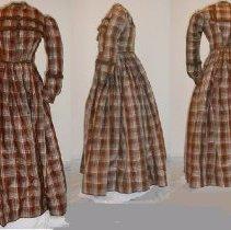 Image of DRESS, (2 PC.) SILK PLAID