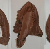 Image of BODICE, (HAD BEEN CALLED A JACKET), CHOCOLATE BROWN SILK FAILLE