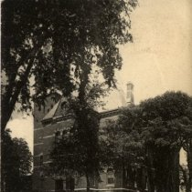 Image of POSTCARD, ABBOT HALL, (188 WASHINGTON ST.) FROM MIDDLE ST.