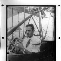"Image of PHOTOGRAPH, BURGESS MODEL F FLYING BOAT 1913, ELWOOD ""GINK"" DOHERTY PILOT I"
